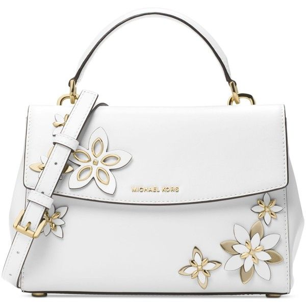 Michael Kors Ava Small Satchel 328 Liked On Polyvore Featuring Bags Handbags White Purse Mich