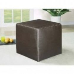 Leather Dark brown cube with matching stitching http://solidwoodfurniture.co/product-details-sofas-3323-leather-dark-brown-cube-with-matching-stitching.html