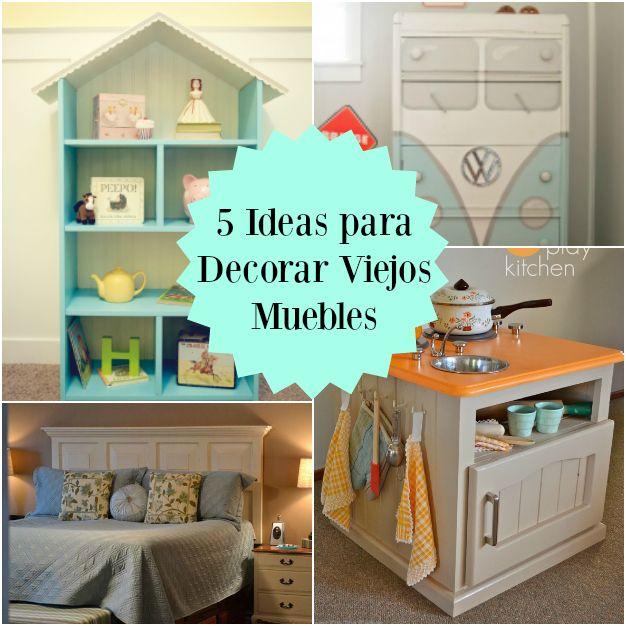 17 mejores ideas sobre muebles de madera envejecida en - Ideas para reciclar muebles viejos ...