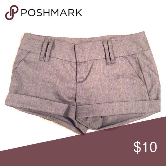 Juniors Shorts Gray dressy shorts. Charlotte Russe Shorts