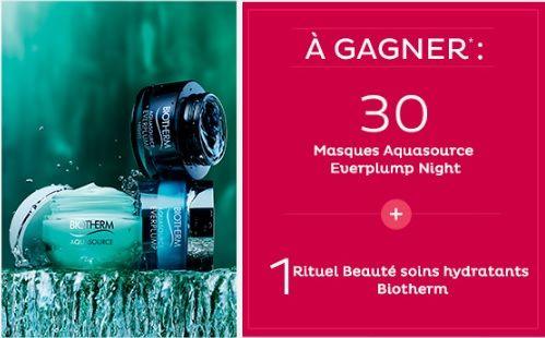 31 lots beauté Biotherm Aquasource à gagner   Echantillons gratuits, réductions et cadeaux