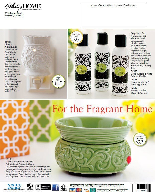 Celebrating Home Fragrance Warmers And Our 3 Most Popular Frangrance Gels!