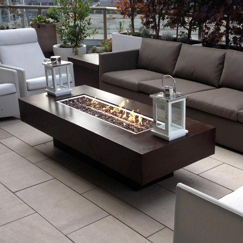 """Dreffco 30"""" x 72"""" Custom Outdoor Rectangular Fire Pit Table with CSA Approved 90,000 BTU NG or LP Stainless Steel Burner and Reflective Fireglass Dreffco http://www.amazon.com/dp/B00J093U0E/ref=cm_sw_r_pi_dp_pN81ub1GJGNA7"""