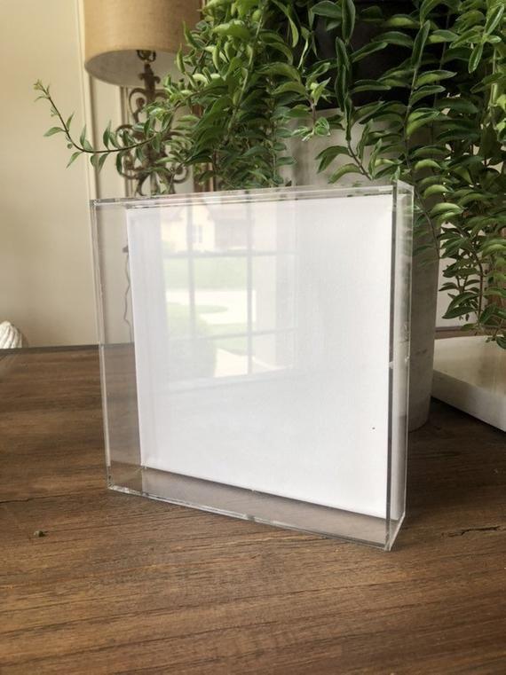 Custom Lucite Acrylic Frame White Canvas Shadow Box 37x37x2 Etsy In 2020 Acrylic Frames Plexiglass Frames Canvas Frame