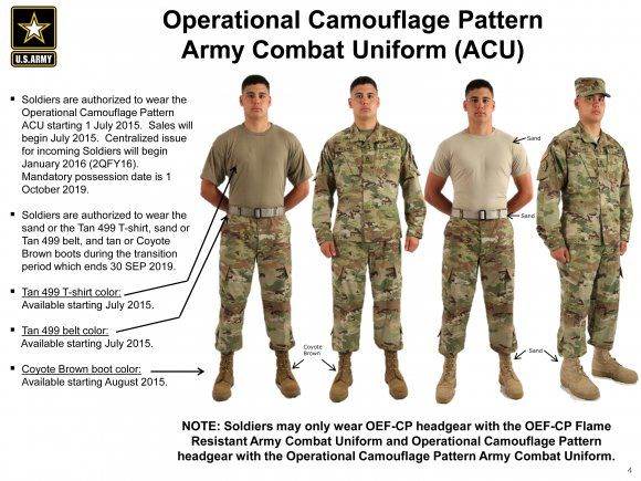 Operational Camouflage Pattern Army Combat Uniforms available July 1 | Article | The United States Army