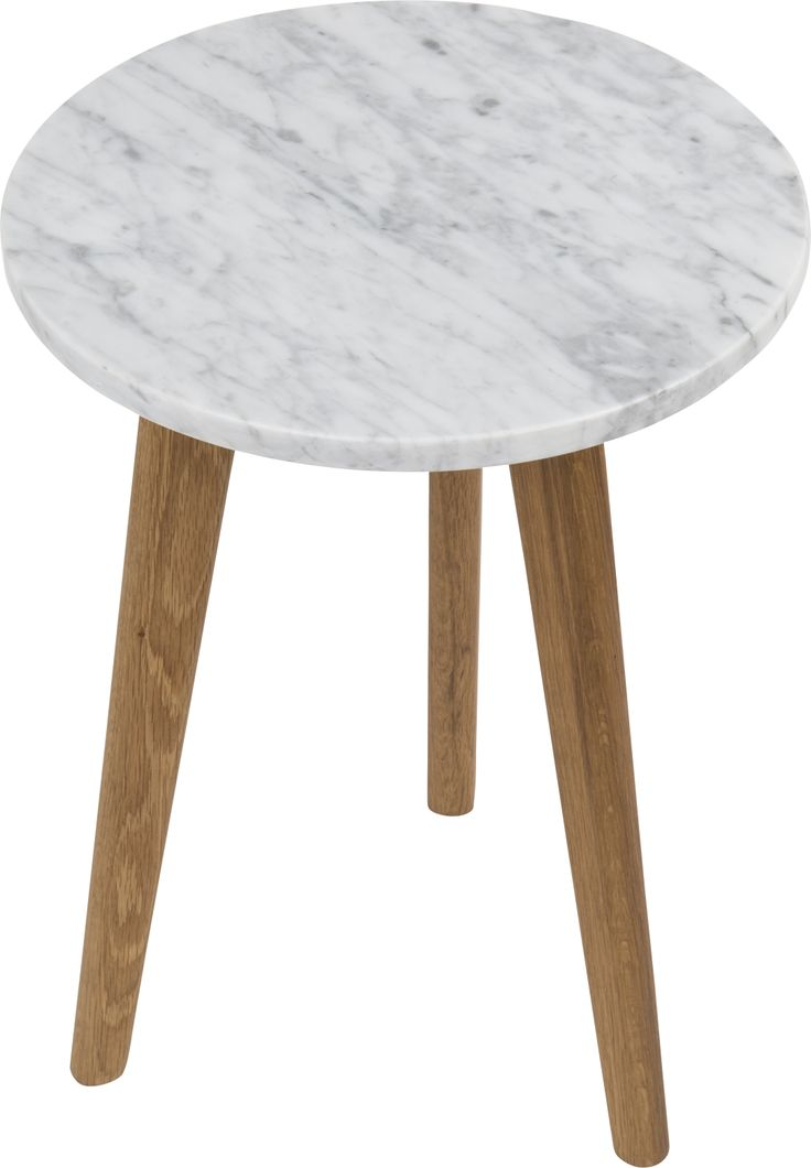 White stone S side table