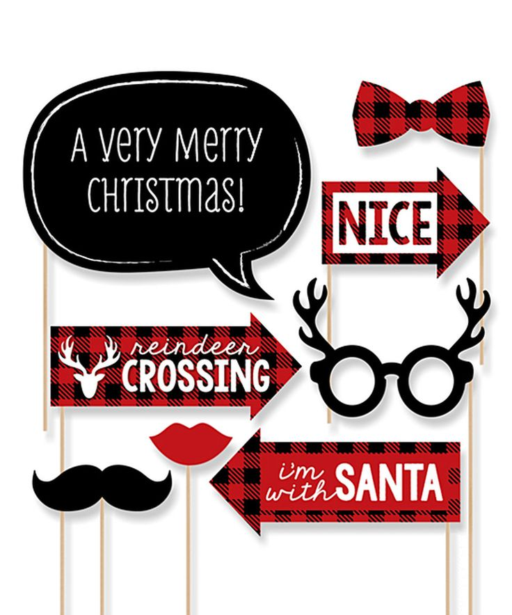 This Prancing Plaid Christmas Photo Props Set by Big Dot of Happiness is perfect! #zulilyfinds