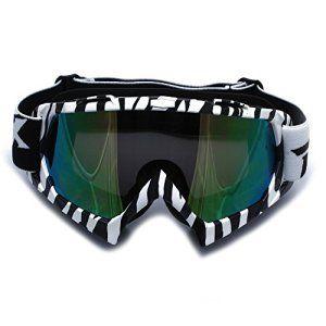 CARCHET® Lunettes Miroir Réfléchissant Goggle Glasses Eyewear Masque Anti-poussière Coupe-vent Protection Yeux pour Moto Cross Scooter Ski…