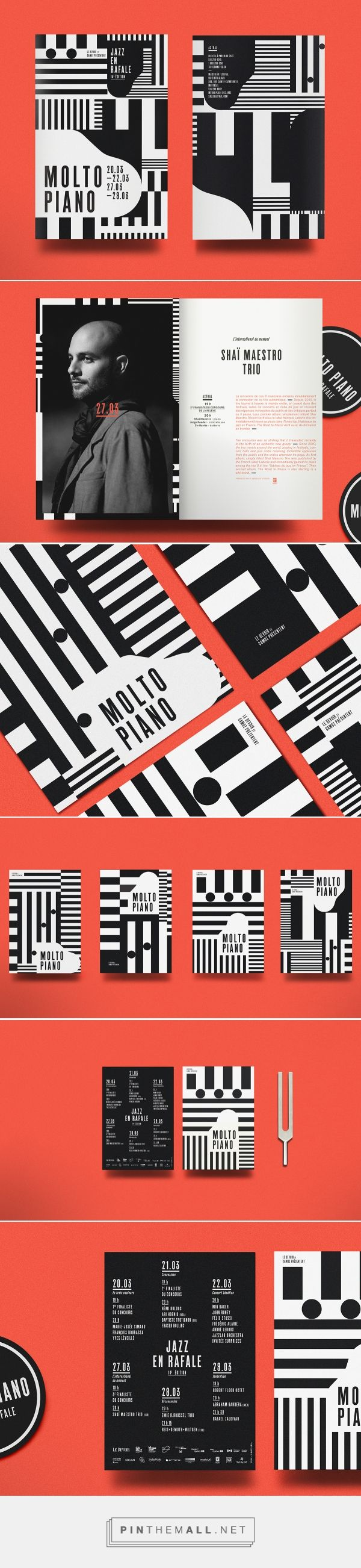 MOLTO PIANO - Jazz en rafale 2014 on Behance | Fivestar Branding – Design and Branding Agency & Inspiration Gallery