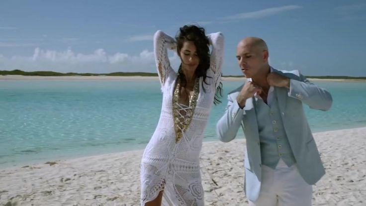 Pitbull's Timber Video. Raffaella Modugno in Tanya-Marie Designs crochet dress.