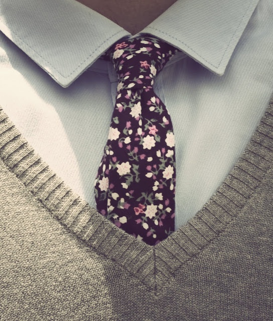 Floral tie #summer #liberty