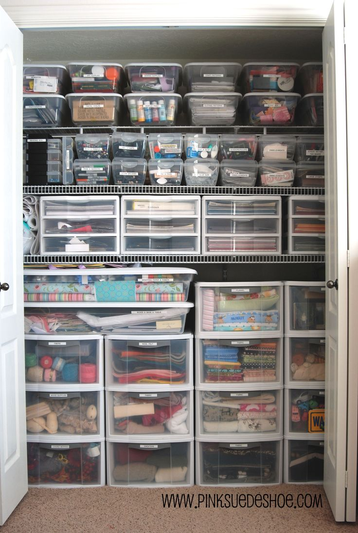 Organized crafty closet