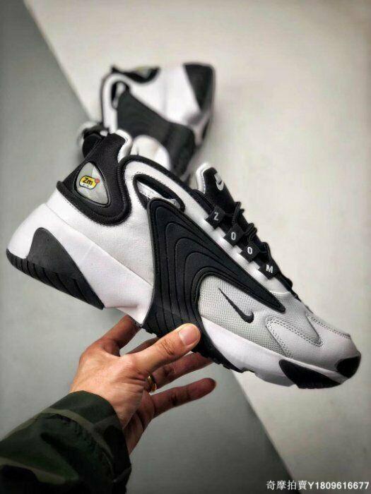 New Men's Shoe Zoom 2K White/Black AO0269-101 Size 9 5 Free