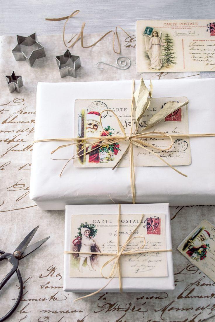 Vintage French Christmas Postcards & free printable! | GIFT ...