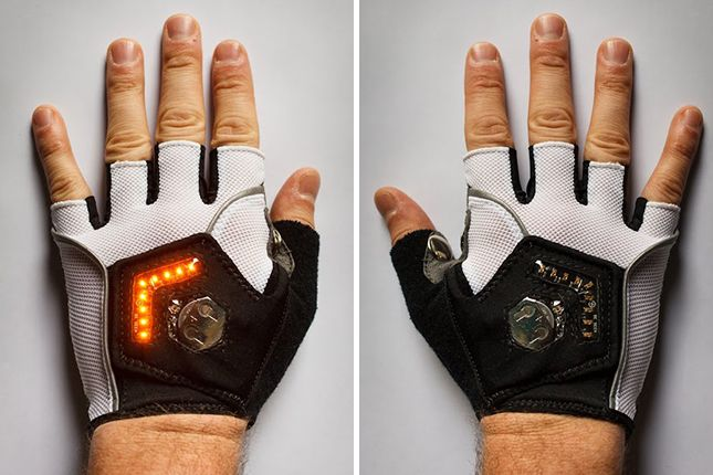 These gloves have built-in turn signals... so awesome!
