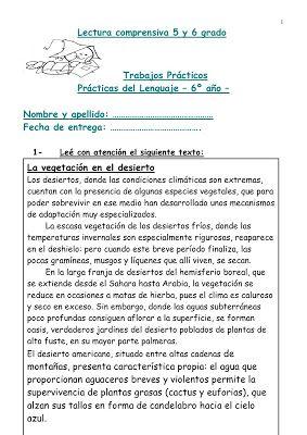 CoSqUiLLiTaS eN La PaNzA BLoGs: LECTURA COMPRENSIVA 5 Y 6 GRADO