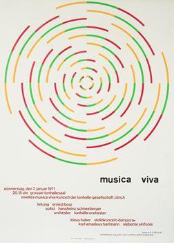 Muller-Brockmann, Josef poster: Musica Viva January 7, 1971