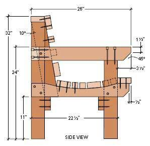 Wooden bench plans with back woodworking projects plans for How to build a wooden bench with a back