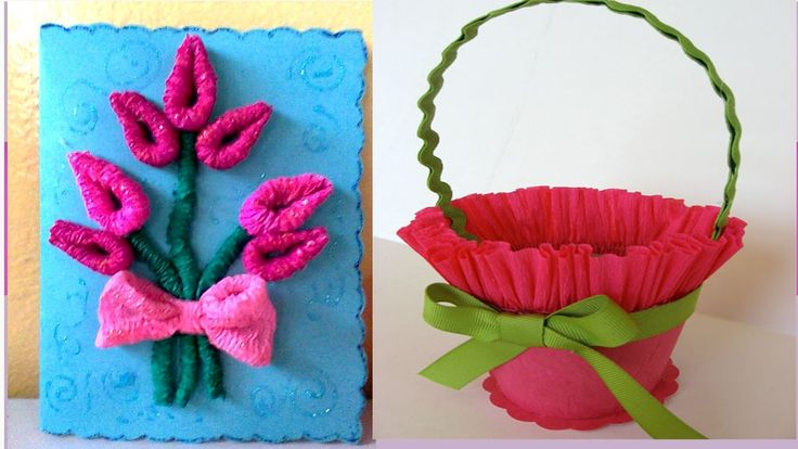 20 best crepe images on pinterest paper flowers craft for Manualidades con papel crepe
