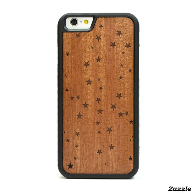 Engraved Rosewood iPhone 6 Case - Falling Stars