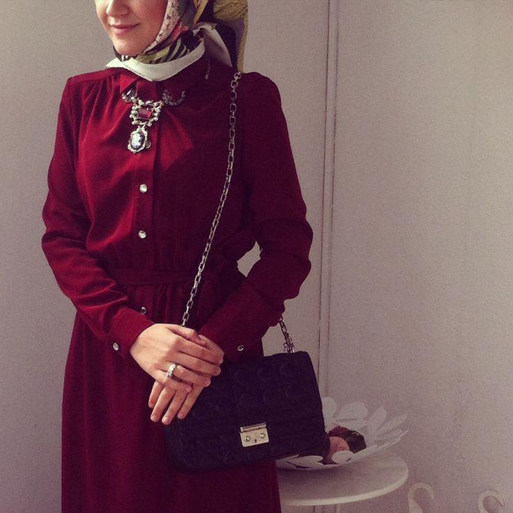 Modern, fashionable, stylish, maxi dress. Kubra Tekin , hijab