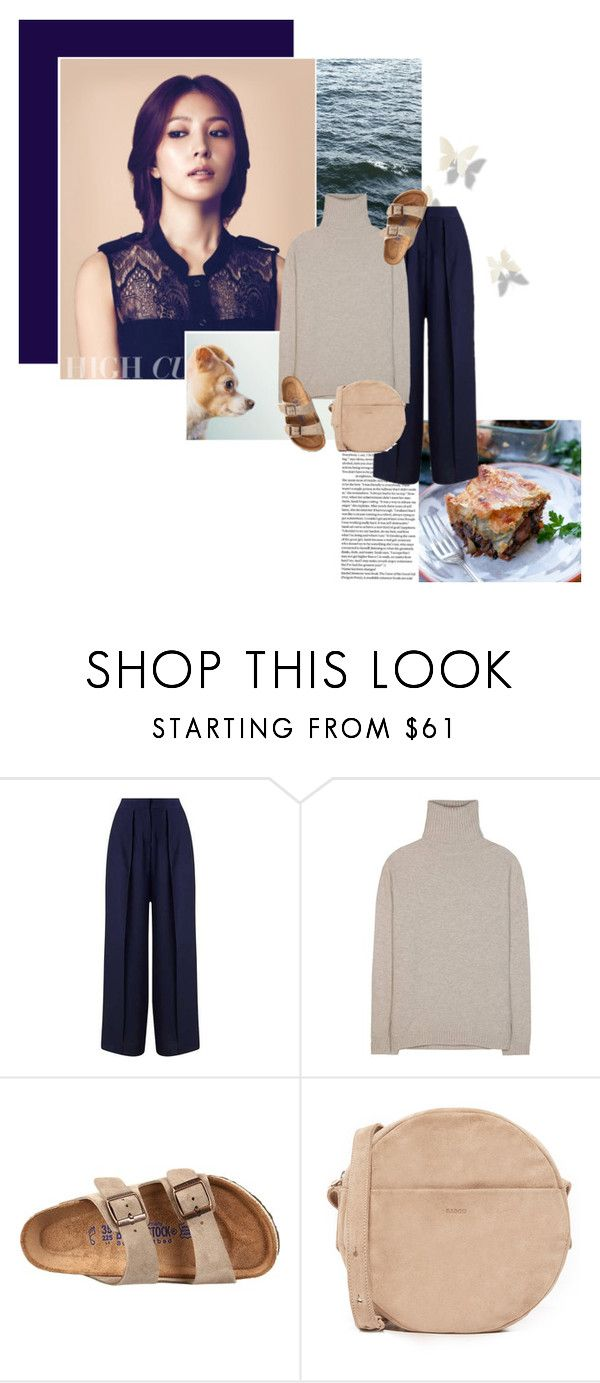 """""""Tell me something, I need to know Then take my breath and never let it go"""" by makeupgoddess ❤ liked on Polyvore featuring Miss Selfridge, Jardin des Orangers, Birkenstock and BAGGU"""