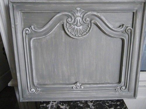 """Ces portes de meuble trouvées sur une brocante pour 3 fois rien... avaient """"du potentiel"""" mais n'étaient pas en bois massif. En fait elles étaient composées d'un panneau d'aggloméré haute densité """"contre-collé"""" et de décor en résine pour les moulures..;..."""