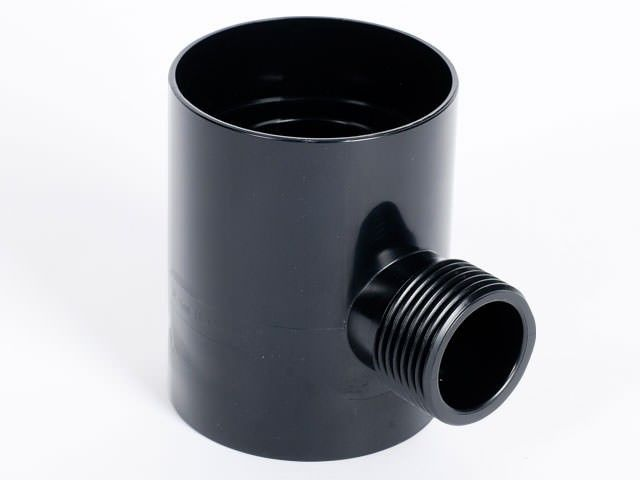 Rainwater diverter in colour anthracite.
