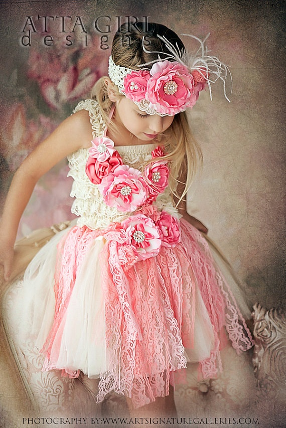 SUMMER ROSE GARDEN Lace Tutu Skirt Romper by ATTAGirlDesigns, $126.00