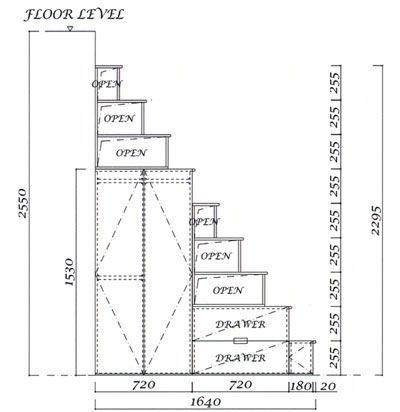 ロフト用階段 | 収納階段キット | ロフト 家具階段の販売のアイエム