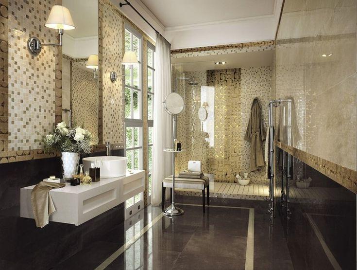 azulejos de baño con mosaicos