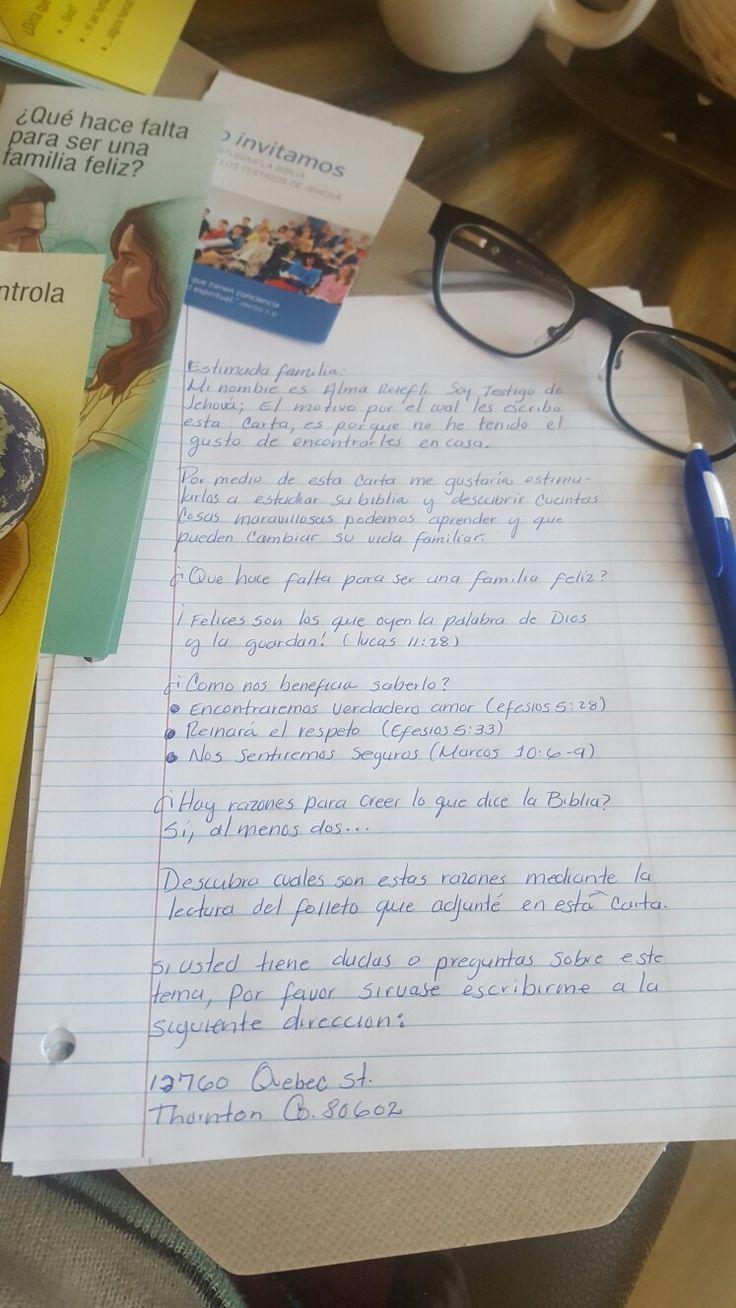 Cartas para predicación. JW.ORG