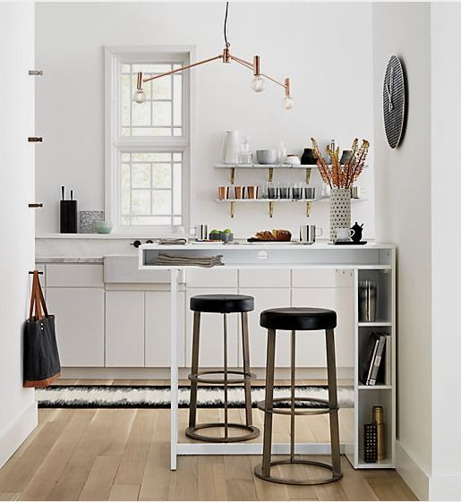 """public white 42"""" high dining table 