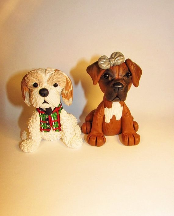Custom Cake Topper, Dog, Pet, Boxer, Terrier, Mix Breed, Wedding Cake Topper, Animal Topper, Personalized
