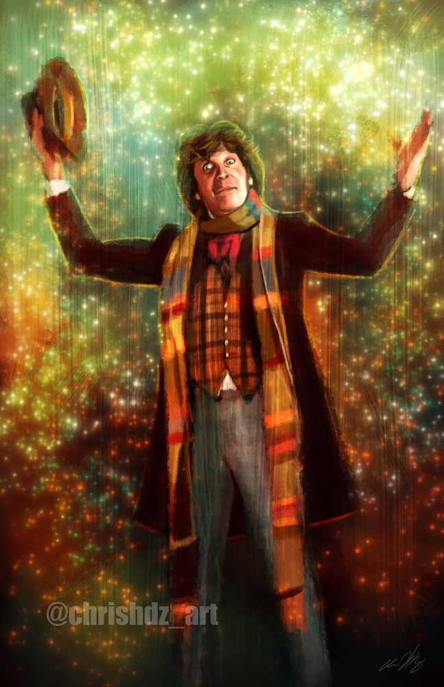The Doctor- Tom Baker (4th Doctor) by ChrisHdzArt.deviantart.com on @DeviantArt