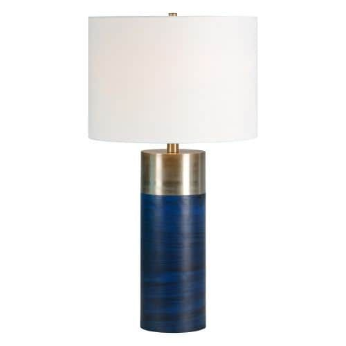 Ren Wil LPT641 Glint 1 Light 27 Tall Accent Table Lamp, Grey metallic