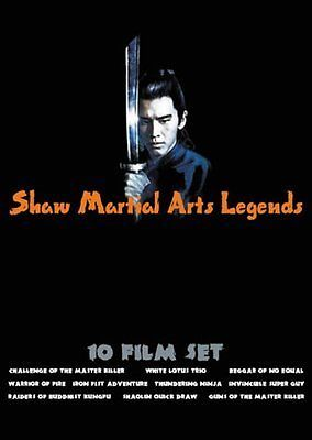 Shaw Martial Arts Legends (DVD, 2005) Ten Shaw Brothers Classic Kung Fu Set