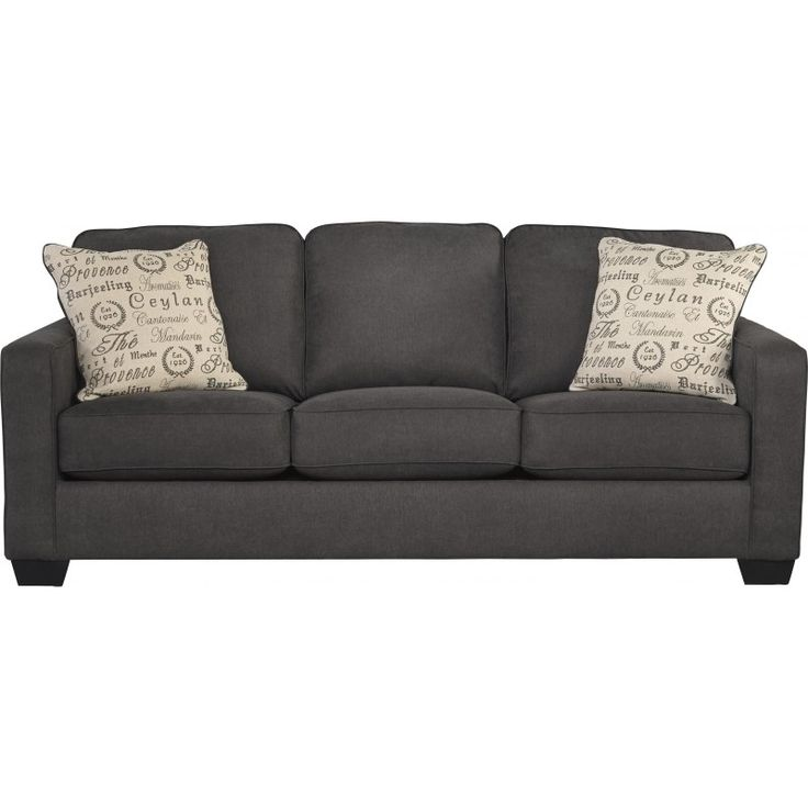 Alenya-Charcoal Queen Sofa Sleeper - Sofa Sleepers - Living Room Furniture - Products