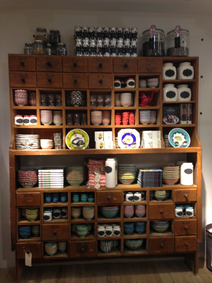 Dresser - tea shop display idea
