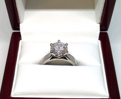 This stunning 18 carat white gold diamond ring has been valued at over $58k