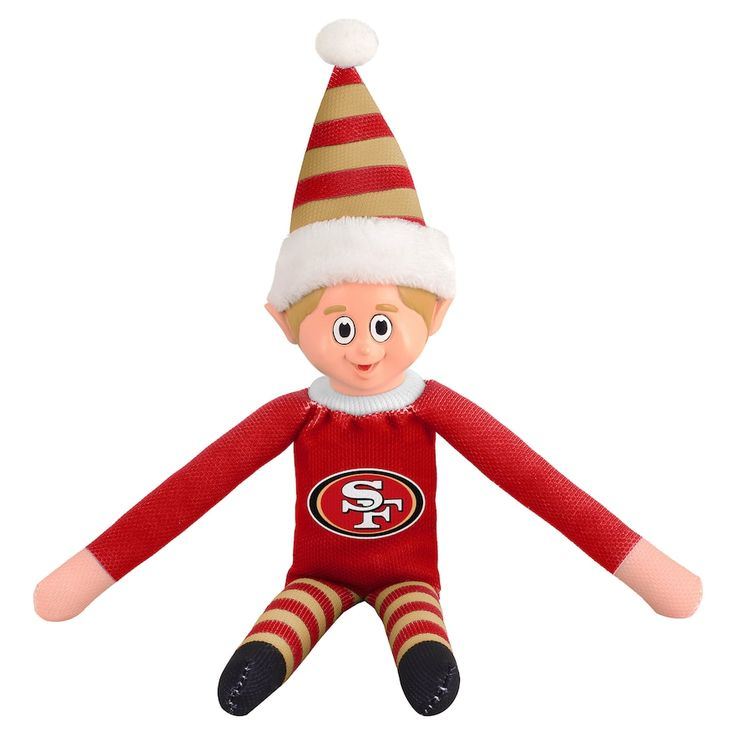 Forever Collectibles San Francisco 49ers Team Holiday Elf, Multicolor