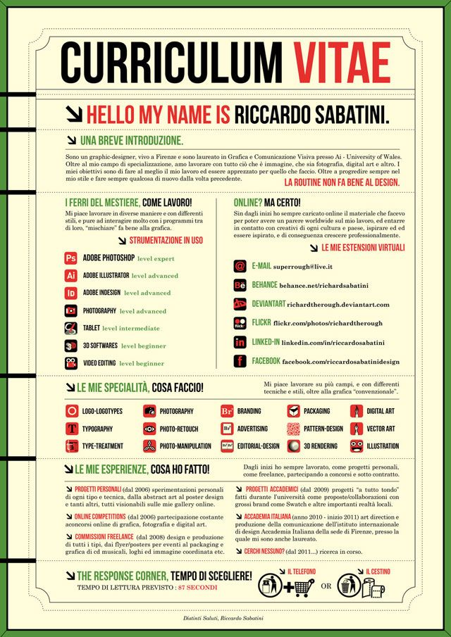 128 best CV - RESUME - PORTFOLIO images on Pinterest Creative cv - how to make a one page resume