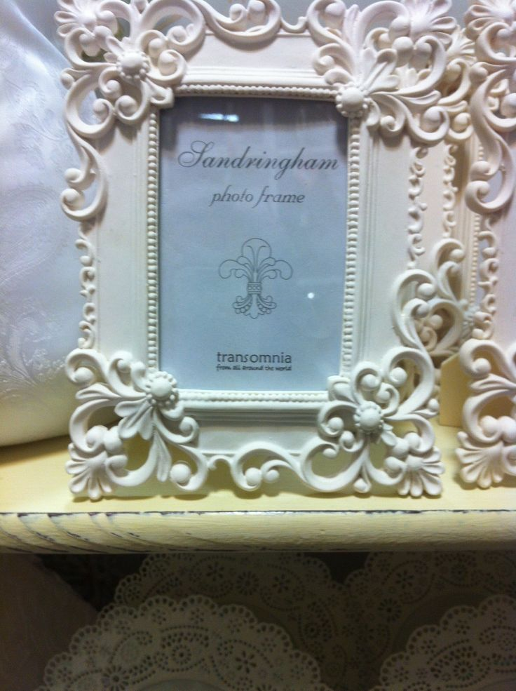 Beautiful ceramic ornate French cream frame