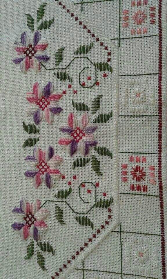 Knitting Embroidery Bordado : Best images about bordado yugoslavo o vagonite punto