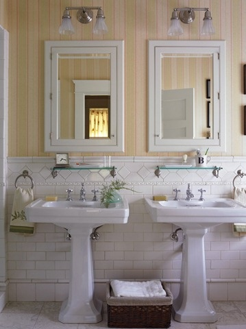 Pedistal sink pedestal and wall papers on pinterest - What can i use to unclog my bathroom sink ...