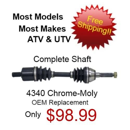 Brand new , complete cv axles. Just $98.99, with FREE shipping!