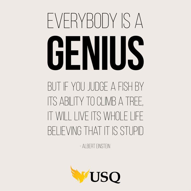 Words of wisdom from Albert Einstein #genius #motivational #usq