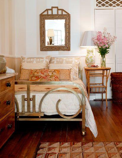 Sara Bengar interior design- beautiful bed frame