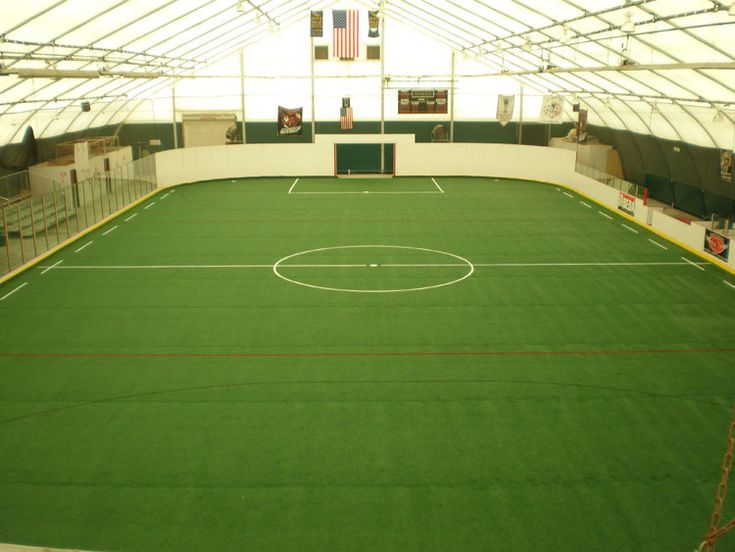 Indoor Soccer Field. I Like To Play Soccer And Most Of All