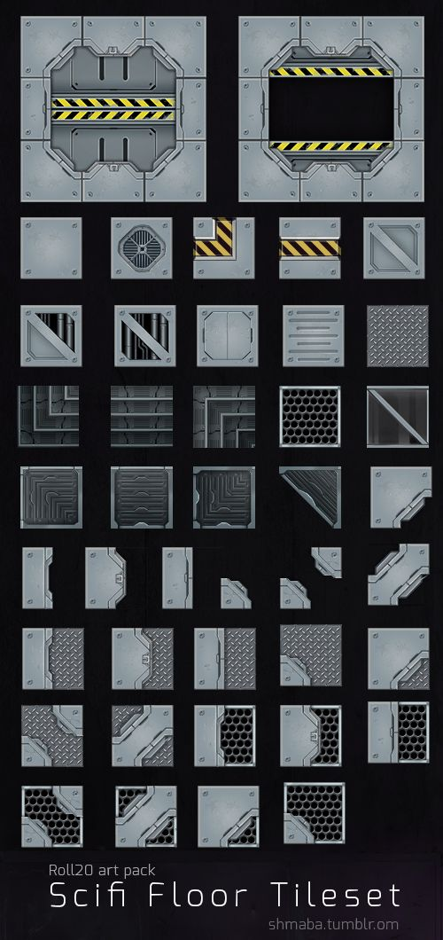 Scifi Floor tileset for Roll20 tabletop games
